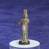 Roman silver figurine of a crowned goddess