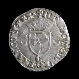 France, douzain 'aux croissants' 1552, Saint-Lô