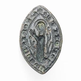 Medieval bronze ecclesiastical Vessica seal