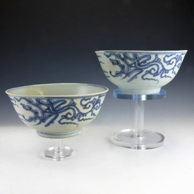 China, two porcelain bowls from the 1817 'Diana' shipwreck