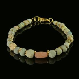 Bracelet with Egyptian faience beads