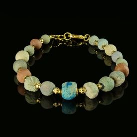 Bracelet with Egyptian faience beads