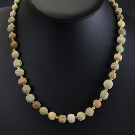 Necklace with Egyptian faience beads