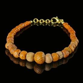 Bracelet with Roman orange glass beads