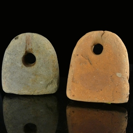 Roman pottery weaving weights