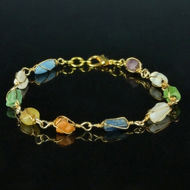 Bracelet with Roman multicoloured glass and shell beads