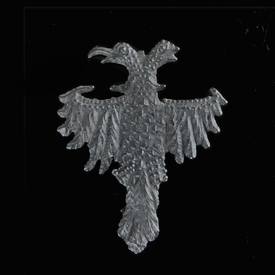 Medieval pewter badge, double headed Eagle