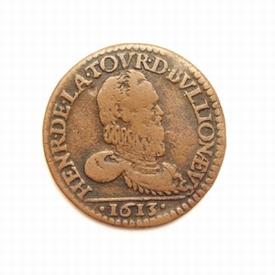 France, double Liard 1613, Bouillon & Sedan