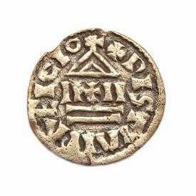 Carolingians, AR obole, struck 822-840 AD