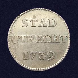 Utrecht, duit 1739, afslag in zilver
