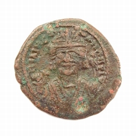 Byzantine Empire, Maurice Tiberius (582-602 AD), ½ Æ follis