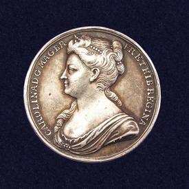 England, AR Coronation medal of Queen Caroline