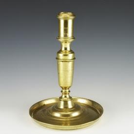 Antique Dutch brass candlestick