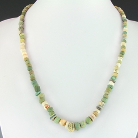 Necklace with ancient faience, glass, stone and shell beads
