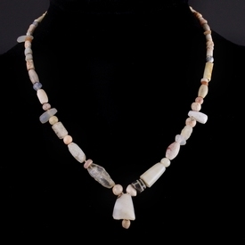 Necklace with ancient stone beads