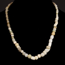 Necklace with Roman glass and stone beads
