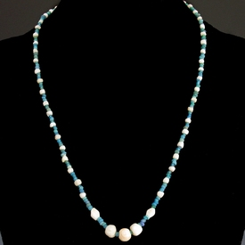 Necklace with Roman glass, stone and shell beads