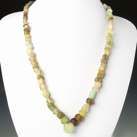 Necklace with Roman semi-translucent glass beads