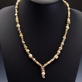 Necklace with Roman glass, faience and stone beads
