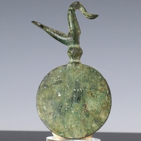 Ancient Greece, bronze pendant with bird