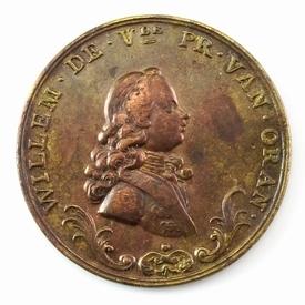 Nederland, Amsterdam, Kalenderpenning 1767, Willem V