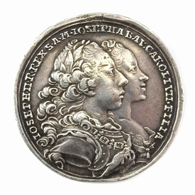 Austria, silver medal on the 2nd marriage of Joseph II, 1765