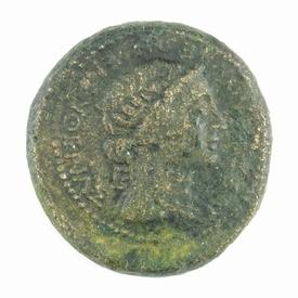 Roman Provincial, Thessalonica, Mark Anthony - Octavian Æ29
