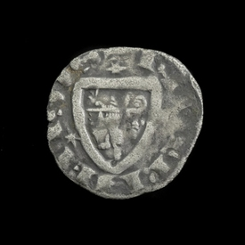 France, Nevers, AR Denier, 1280-1296