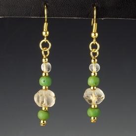 Roman glass beads earrings