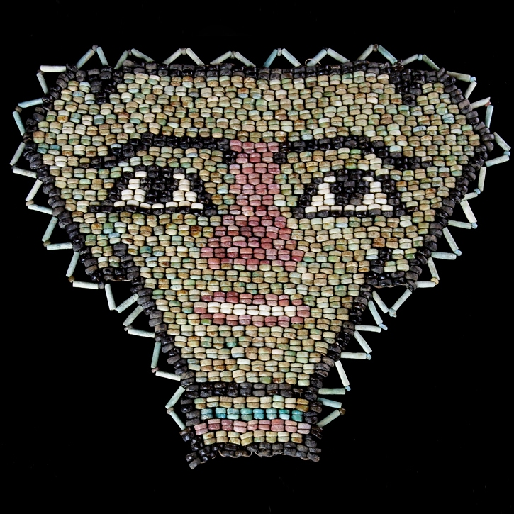Ancient Egypt, faience beaded mask, large size