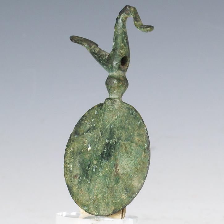 Ancient Greece, bronze pendant with bird