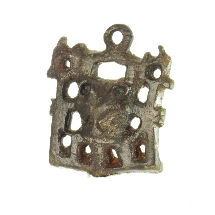 Anglo-Saxon / Viking figural stirrup mount
