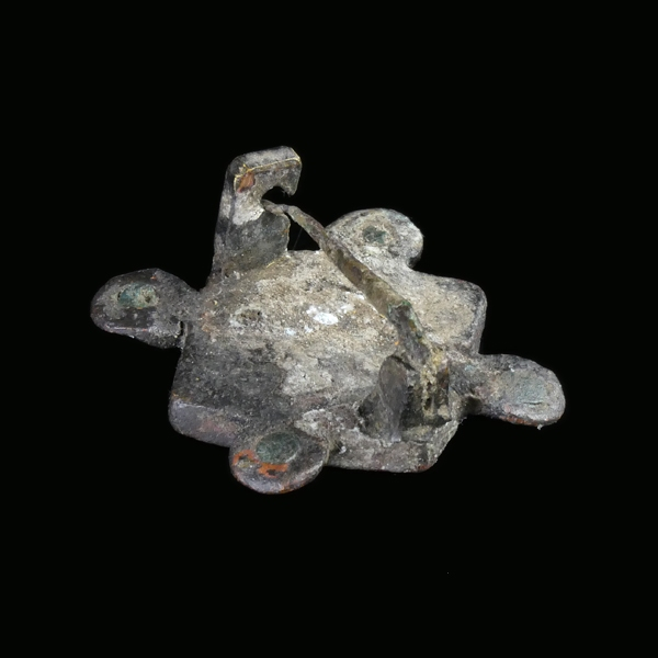 Anglo-Saxon cloisonné enamelled plate brooch