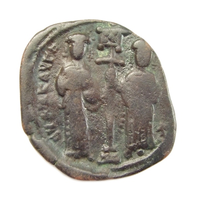 Byzantine Empire, Constantine X Ducas and Eudocia, Æ follis