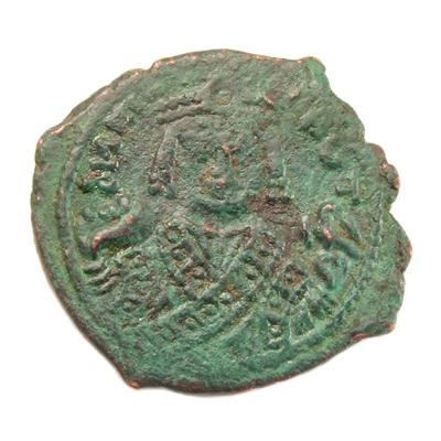 Byzantine Empire, Maurice Tiberius (582-602 AD), Æ follis