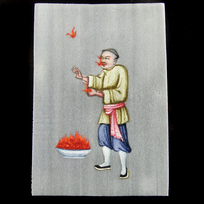 China, collection of 10 Chinese gouaches on rice paper