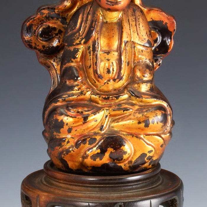 China, lacquered and gilded Buddha