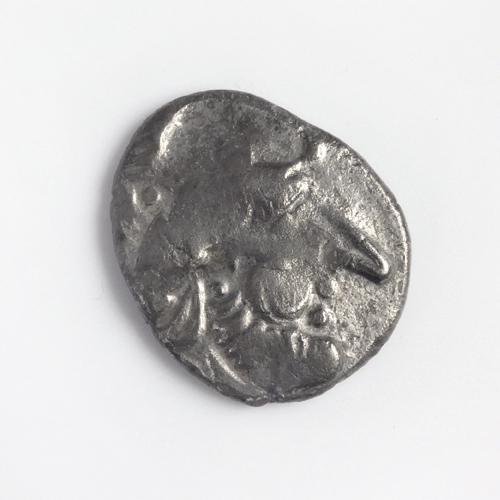 Danubian Celts, Pannonia, AR Tetradrachm, 'Kugelwange' type