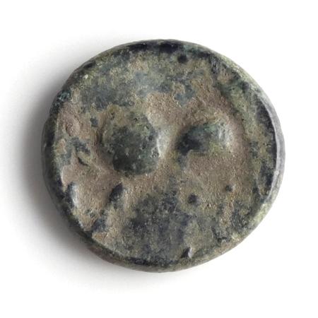 Danubian Celts, Pannonia, Æ Tetradrachm, 'Kugelwange' type