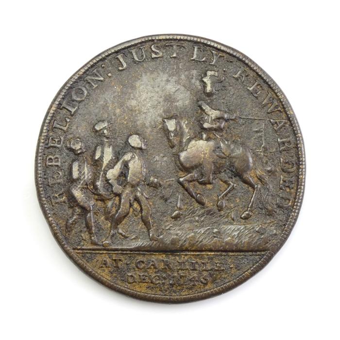 England, Jacobite medal, Duke of Cumberland, Carlisle