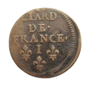 France, Liard, 1657, Limoges