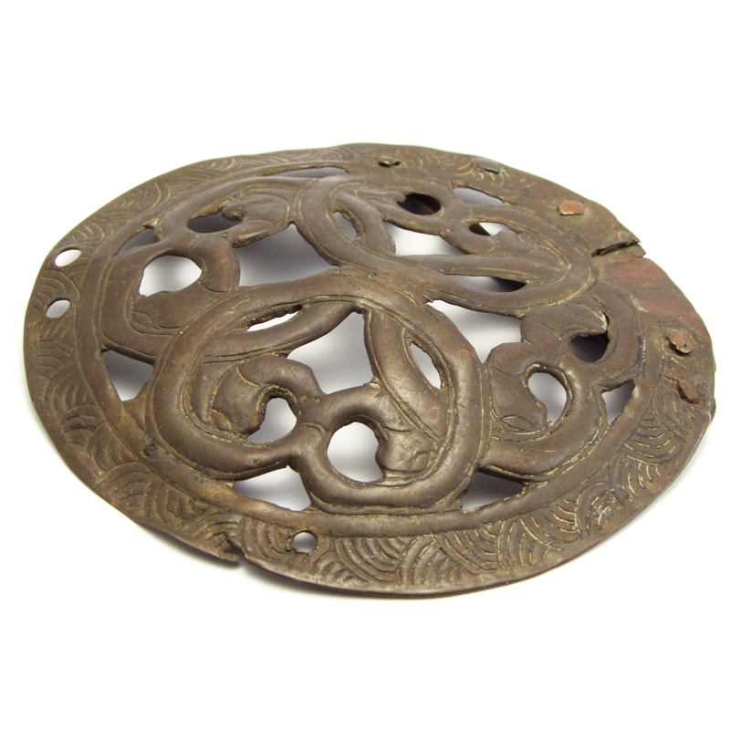 Large brass openworked mount