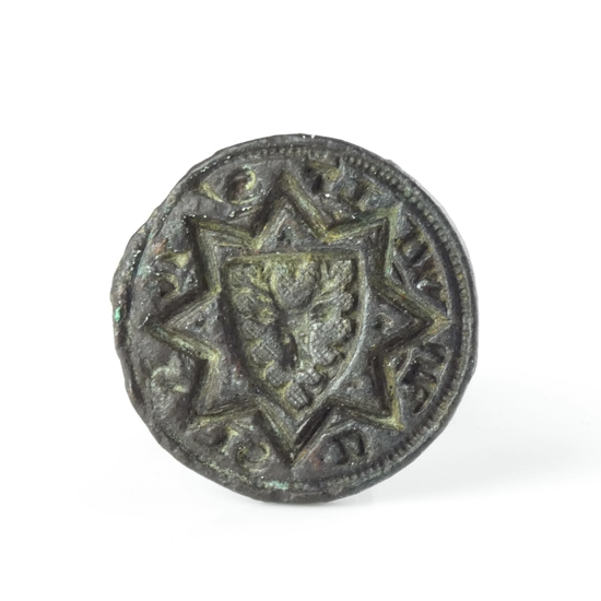 Medieval bronze seal with Stag