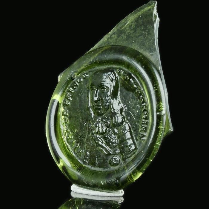 Netherlands, bottle seal with portrait of Prince of Orange