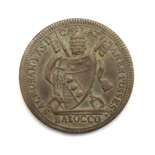 Papal States, Vatican, 1 baiocco 1801