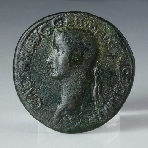 Roman Empire, Caligula, Æ Sestertius 'The Three Graces'