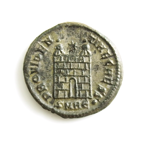 Roman Empire, Constantine II (317-340 AD) silvered Æ follis