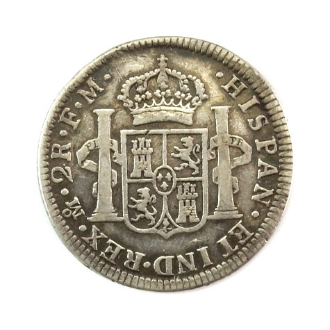 Spain, 2 Reales 1786, Mexico mint (Colonial Spain)
