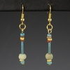 Ancient Egypt, earrings with faience beads