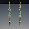 Earrings with Egyptian faience beads